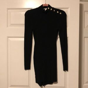 Sweater Dress with Button Detailing